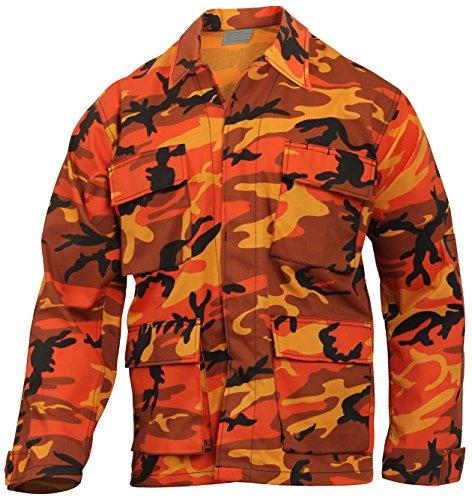 Rothco Color Camo BDU Shirt, Savage Orange Camo, M