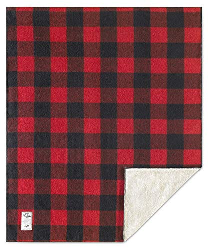 Woolrich Home Sherpa Rough Rider Blanket, Red