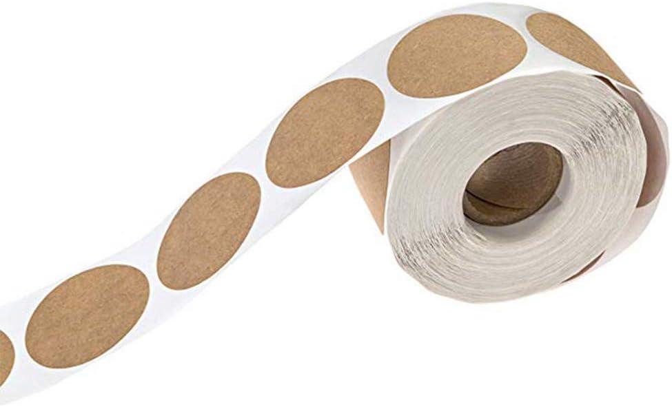 Hosaire Un Rouleau Autocollant /Étiquette Sticker Ronde /Étiquette Marque en Papier Kraft Cadeaux Autocollants pour D/écoration de Cuisson demballa