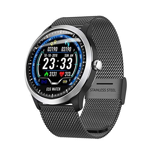 MIRC ECG Smart Bracelet Sports Watch + PPG+HRV Report Heart Rate Blood Pressure Test,Black