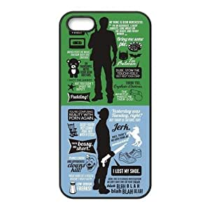 Funny SPN Supernatural Quotes Hard Rubber Phone Cover Case for iPhone 5,5S Cases