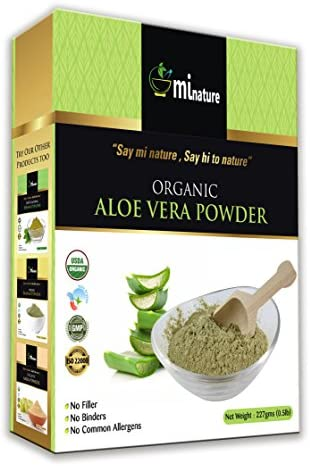 USDA Certified Organic Aloe Vera Powder 100 Pure Natural Aloe Barbadensi