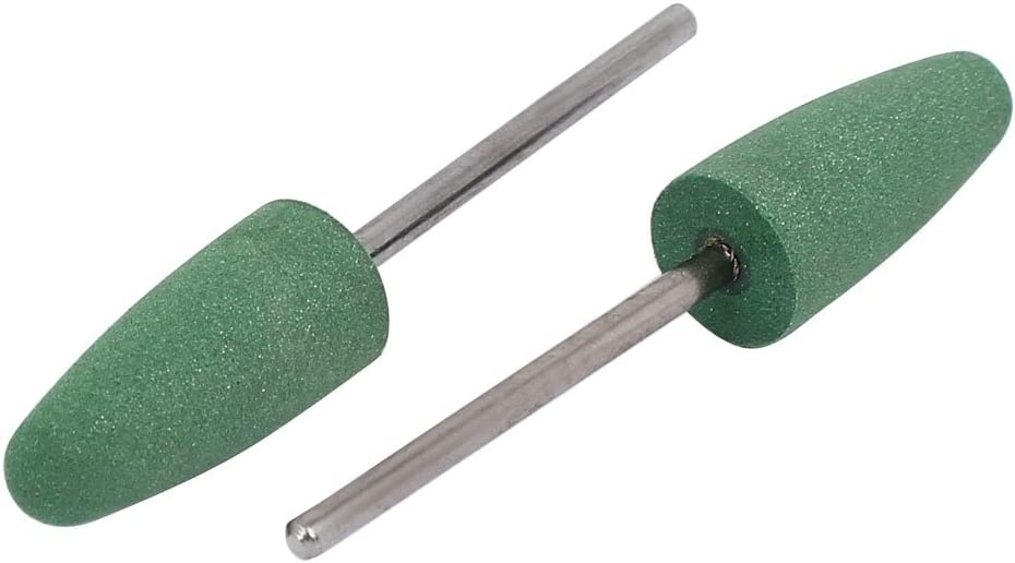 Aexit 2.35mm Handle Abrasives 10mm Dia Silicon Head Cone Shape Polishing Mounted Point Green 5pcs
