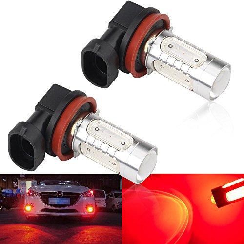 (2pcs SUPER Bright Red H11/H8 LED Bulbs for Fog Lights 7.5W COB Fog Lamp Driving DRL Lights 12V)
