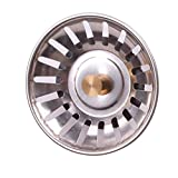 Kitchen Stainless Steel Sink Strainer Waste Disposer Plug Drain Stopper Filter