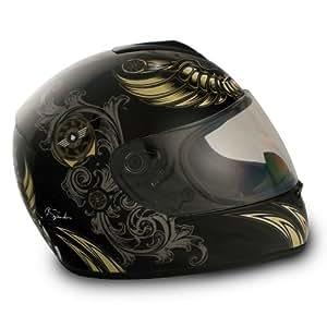 VCAN Blinc 136 Gloss Black X-SmallFull Face Helmet with AVIATOR Graphics