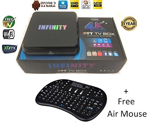 INFINITY ANDROID TV BOX MBOX/4K QUAD CORE 4K KITKAT ULTRA HD STREAMER NEXT...