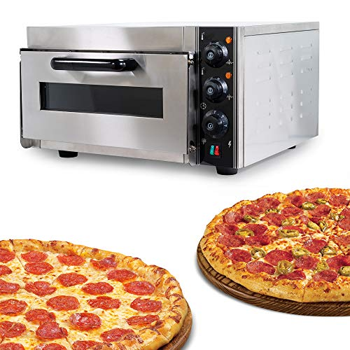 """WYZworks Commercial Pizza Oven Real Marble Cooking Stone Surface Counter Top RV Grill Food Snack Bar Warmer Stainless Steel 15"""" x 15.5"""" x 5.5"""" Max Temp 575° F"""