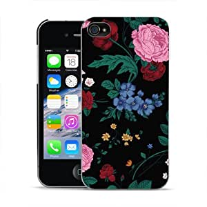 DYEFOR CUTE ENGLISH ROSE SHABBY CHIC FLORAL HARD BACK CASE FOR APPLE iPHONE 4 4S