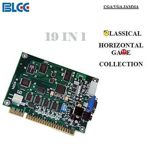 BLEE 19 in 1 Classical Arcade Games Board Horizontal Jamma Multi Game PCB Suppotr CGA VGA by BLEE