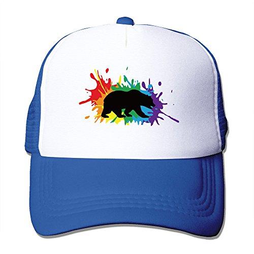 LGBT Friendly UC Berkeley RoyalBlue Adjustable Snapback Mesh Hat (Lesbian Halloween Jokes)