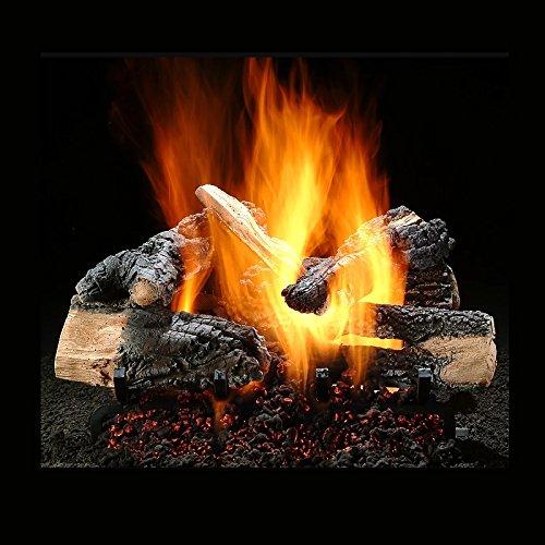 no Series Vented Gas Logs Bundled with Ember Burner Natural Gas - Match Lit ()