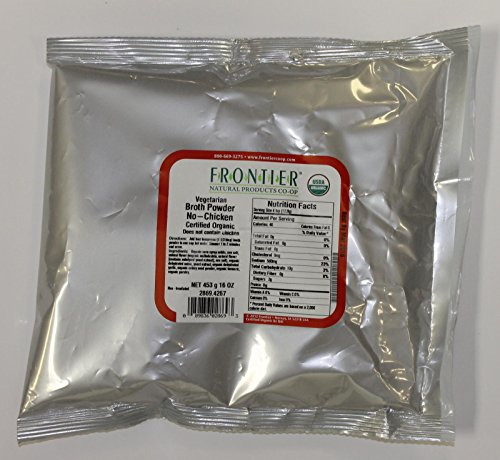 Frontier Herb Broth Powder - Organic - No Chicken - Bulk - 1 lb - 95%+ Organic - by Frontier