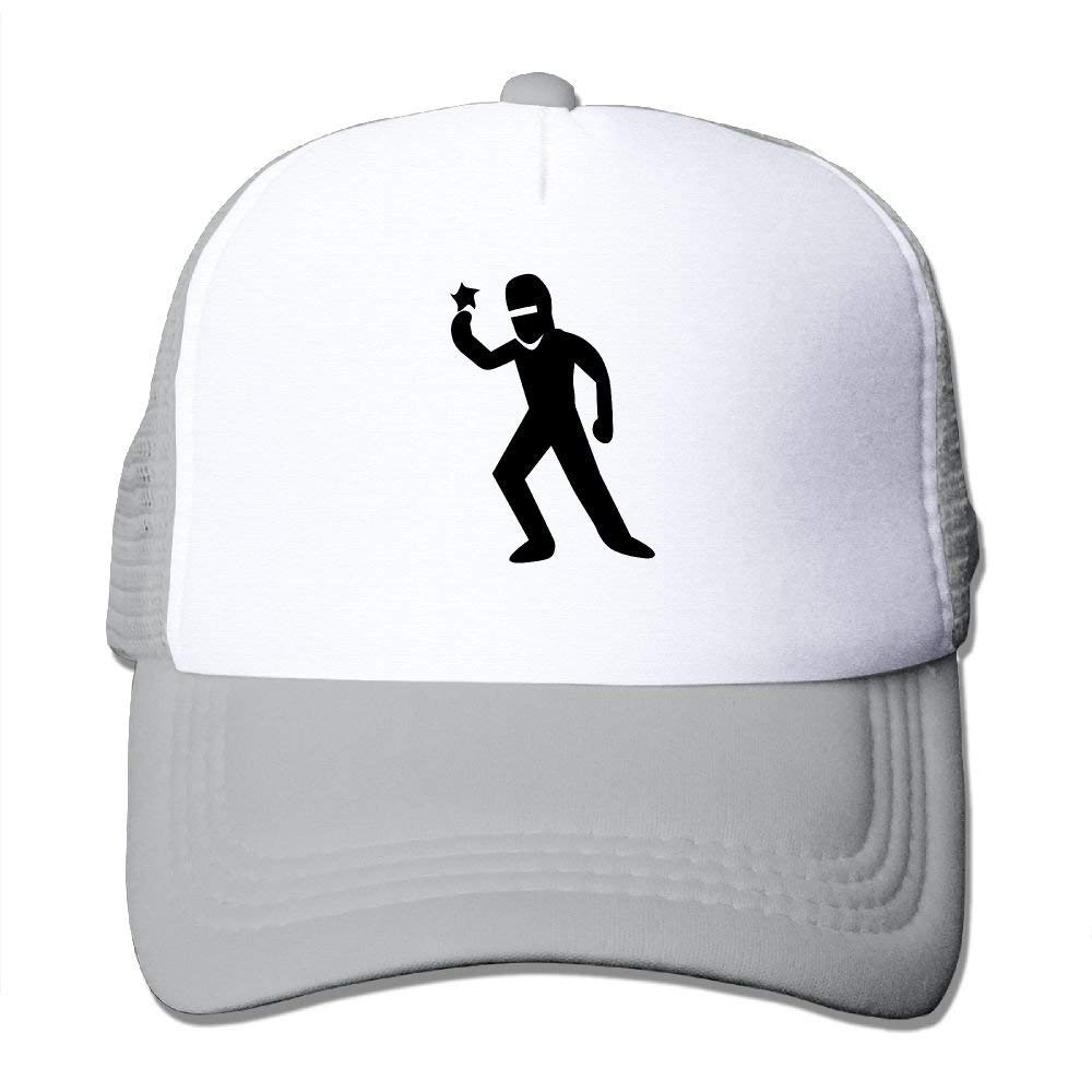 Ninja Guy with A Ninja Star Big Foam Trucker Baseball Cap ...