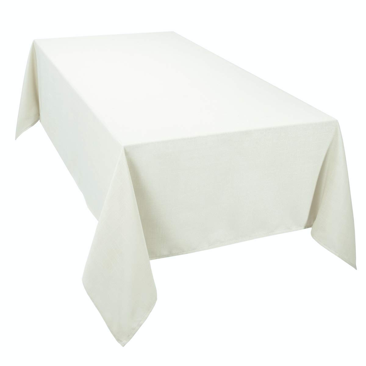 4YH Textiles Essentiel Cream Pack Of 4 Table Polyester Napkins 16in x 16in (40cm x 40cm) Approximately