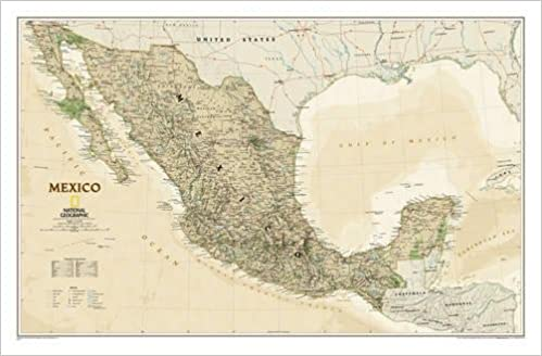 National geographic mexico executive wall map 345 x 2275 inches national geographic mexico executive wall map 345 x 2275 inches national geographic reference map national geographic maps reference gumiabroncs Image collections