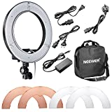 Photo : Neewer Camera Photo/Video 14 inches/36centimeters Outer 36W 180 Pieces LED SMD Ring Light 5500K Dimmable Ring Video Light with Plastic Color Filter Set and Universal Adapter with US/EU Plug