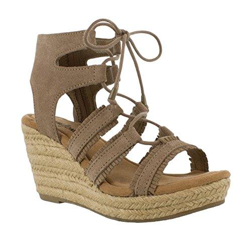 Minnetonka Leighton Sintetico Sandalo con la Zeppa