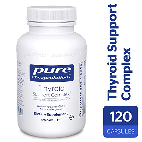 Pure Encapsulations - Thyroid Support Complex - Hypoallergenic Supplement with Herbs and Nutrients for Optimal Thyroid Gland Function* - 120 Capsules (Best Food For Hypothyroid Patients)
