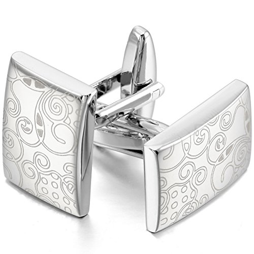 mowom-silver-tone-2pcs-rhodium-plated-cufflinks-pattern-wheel-shirt-wedding-business