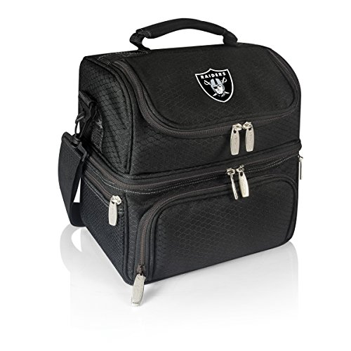 PICNIC TIME NFL Oakland Raiders Digital Print Pranzo Personal Cooler, One Size, Black by PICNIC TIME