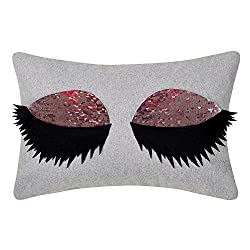 Sexy Eyelash Accent Reversible Sequins Cushion Cover