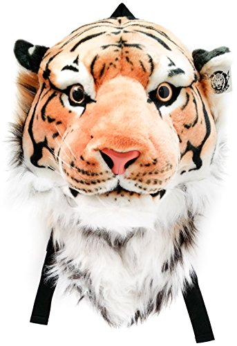Tiger Backpack - VIAHART Authentic Tigerdome Orange Bengal Tiger Animal Head Backpack and Wall Mount | Shipping from Texas