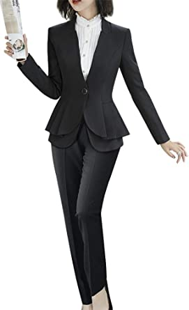 Women/'s Two Piece Office Lady Blazer Suits Formal Women Work Blazer Jacket,Pant//Skirt Suits