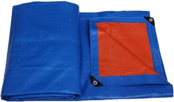 Impermeabilizante de color azul a la luz de la lona de color azul-naranja for patios, pérgola y picnic, cubierta de lona de calidad premium for exteriores con ojales (Size : 12x10m): Amazon.es: