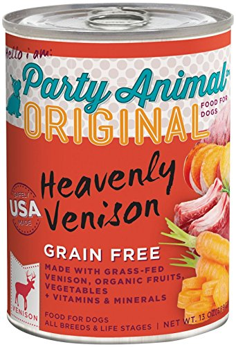 Party Animal Heavenly Venison Recipe Dog Food, 13 Ounce Can - Pack Of 12