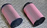 2 x NEW Yamaha Banshee K&N style air filters 26mm STOCK SIZE carbs 28 30mm