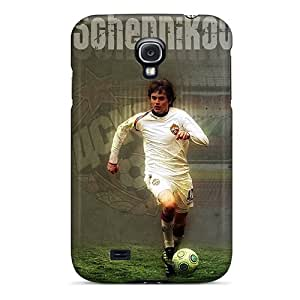 LJF phone case Bernardrmop Case Cover For Galaxy S4 - Retailer Packaging George Shennikov Cska Defender With Ball Protective Case