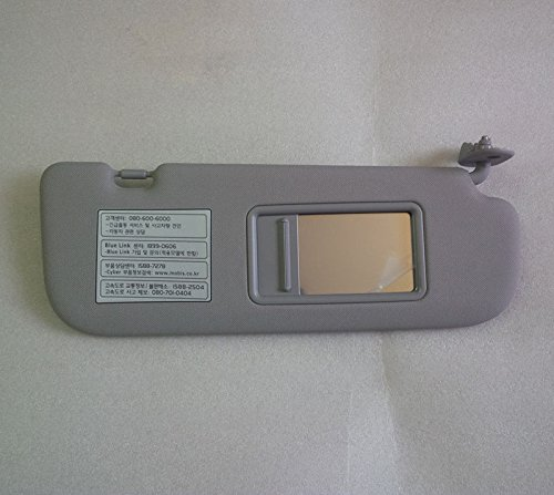 Avante MD Sell by Automotiveapple Hyundai Motors OEM Genuine 852203X200TX Gray Front Right Passenger Inside Sun Visor Sunroof type 1-pc For 2011 ~ 2014 Hyundai Elantra