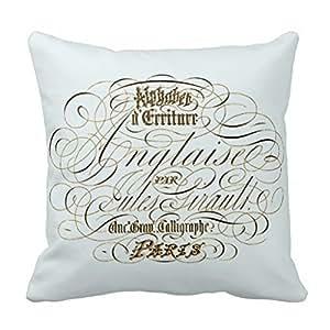 Paris typography pillow-black and white pillow case 16x16