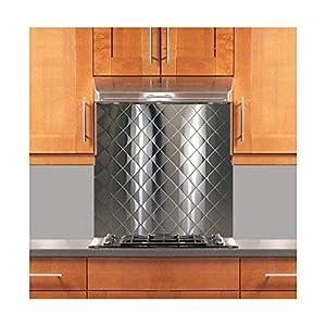 Quilted Stainless Steel Backsplash Various Sizes Hemmed Edge 24 X 30