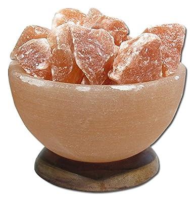 Himalayan Salt Crystal Bowl Lamp with Stones