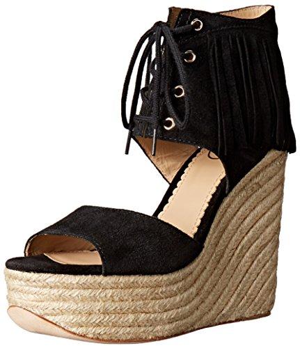 Belinda Ash Women's Wedge Espadrille Black Sandal SWR1qzUx