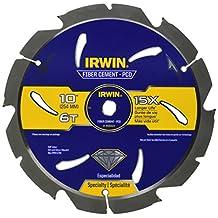 Irwin Tools 4935624 10-Inch x 6T Polycrystalline Diamond Fiber Cement Circular Saw Blade with 5/8-Inch Arbor