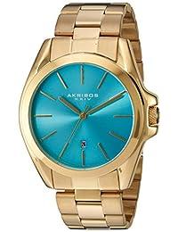 Akribos XXIV AK948YGTQ Women's Quartz Stainless Steel Automatic Watch, Gold-Toned