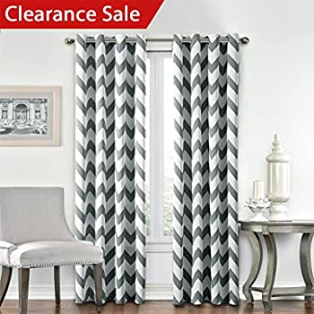 chevron living room curtains lush decor chevron room darkening window 15325