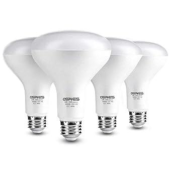 OSAYES Bombillas Reflectora LED E27 Casquillo Fino, 10W equivalente a 80W, Blanco frío 6000K