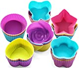GREENRAIN Reusable Silicone Baking Cups, Muffin