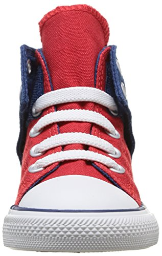 Converse Chuck Taylor Easy Slip Hi - Zapatillas de Deporte de canvas Infantil Rojo - Rouge (Rouge/Marine)