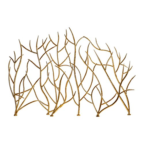 - My Swanky Home Golden Branches Fireplace Screen | Iron Twig Metal Decorative Firescreen