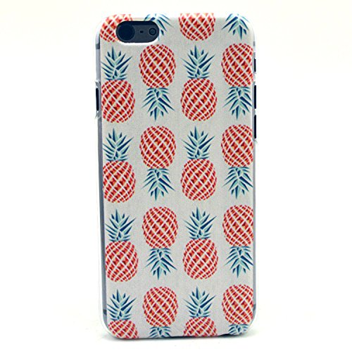iPhone 6 Case, iPhone 6 (4.7 Inch) Case - LUOLNH Fashion Style Colorful Painted Red Pineapple Clear Bumper Hard Case Back Cover Protector Skin For iPhone 6 4.7Inch (Red Pineapple)
