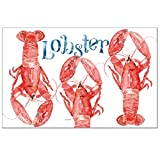 CounterArt 24-Pack Disposable Paper Placemats, Lobsters