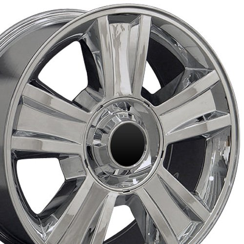OE Wheels 20 Inch Fits Chevy Silverado Tahoe GMC Sierra Yukon Cadillac Escalade CV86 Chrome 20x8.5 Rim Hollander - Wheels Chevy Alloy