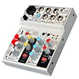 Widewing Live Sound Card Studio Audio Sound Mixer Console Network Anchor (Mixer 6)