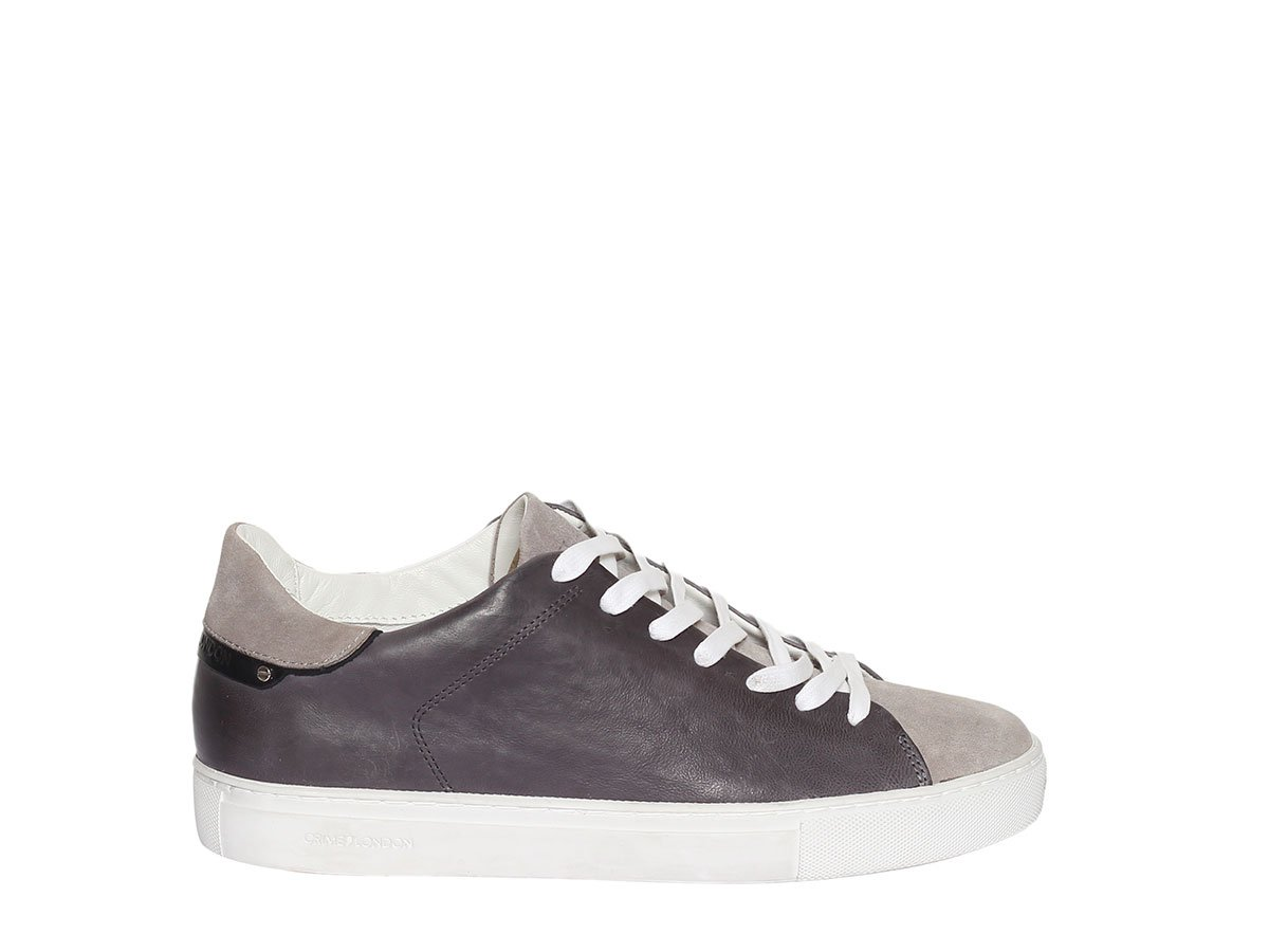 Crime London Zapatos Beat Zapatillas de Cuero Anthracite Hombre 45 EU|Anthracite