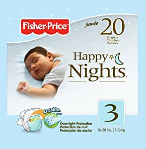 Fisher Price Overnight Diapers - Size 3 - 20 ct
